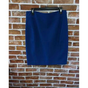 LOFT Women'S Straight Skirts Navy Blue Pencil Sz M